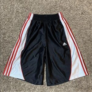 Adidas Shorts Logo Retro Shiny Silky W/ Pockets